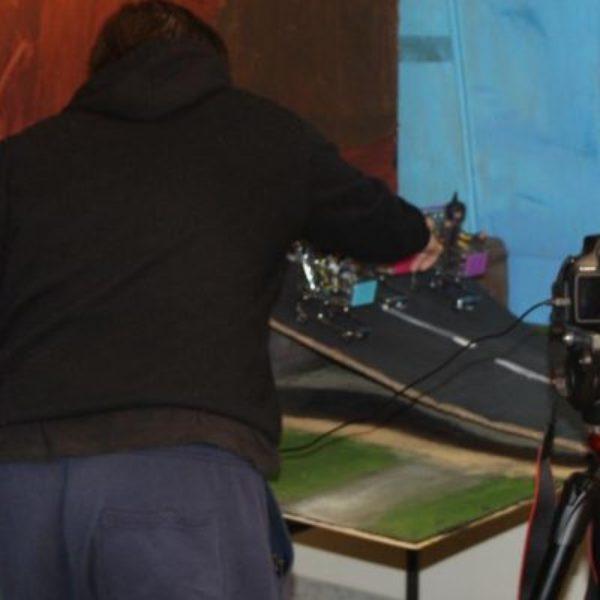 Filming using a green screen