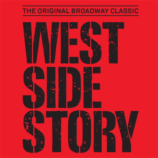 The Original Broadway Classic West Side Story written in black on red ground