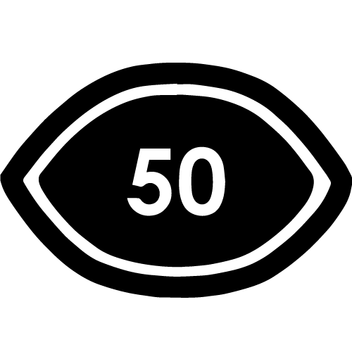Visual Eye Symbol 50 Symbol