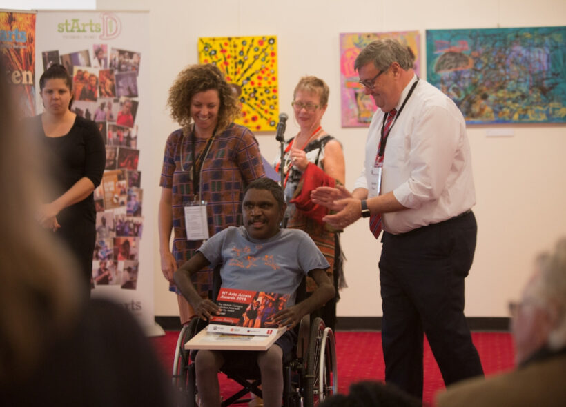 Dion Beasley, Winner 2018,The Michele Castagna individual artist with disability award.