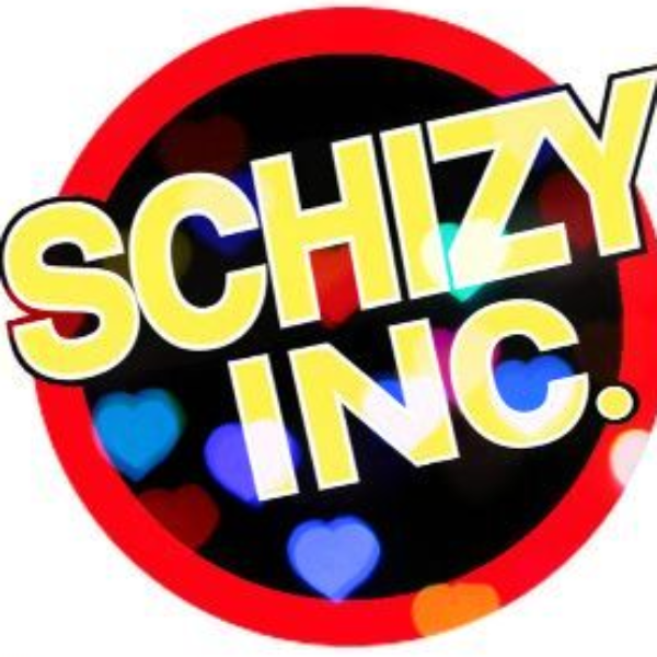 Logo Schizy Inc circle with hearts