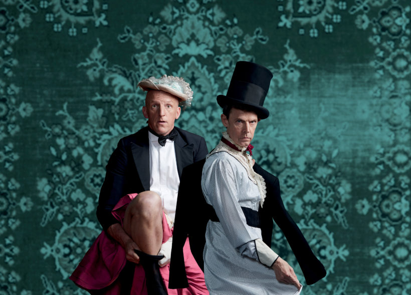 David Woods and Jon Haynes dressed in period costumes