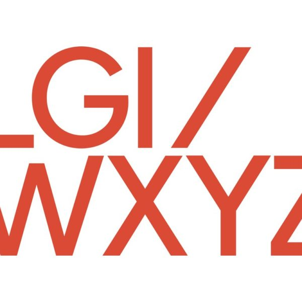 Lucy Guerin Inc logo in red