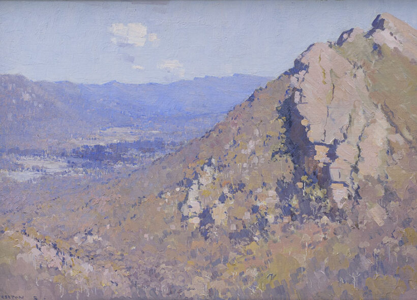 Arthur Streeton View up the valley 1920
