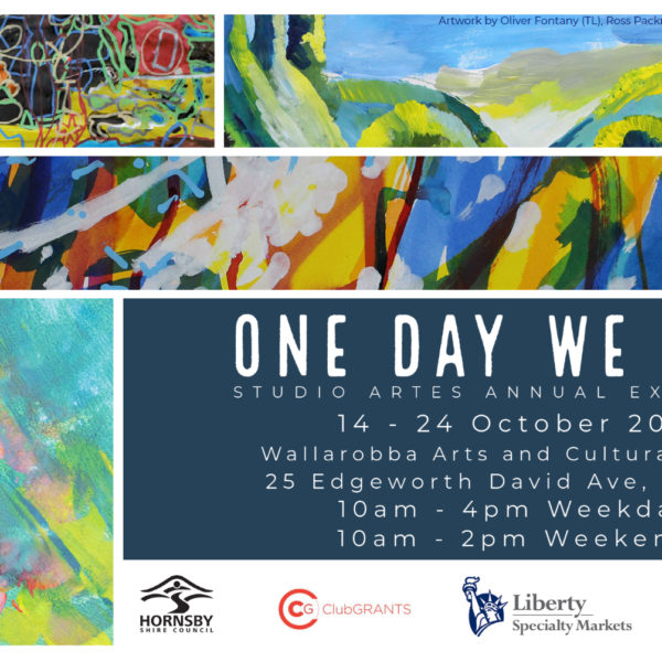 Studio ARTES invitation to One Day We Will Art Exhibition