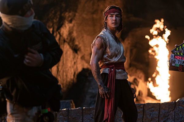 Crew on set of SA filmed action blockbuster Mortal Kombat with star Ludi Lin