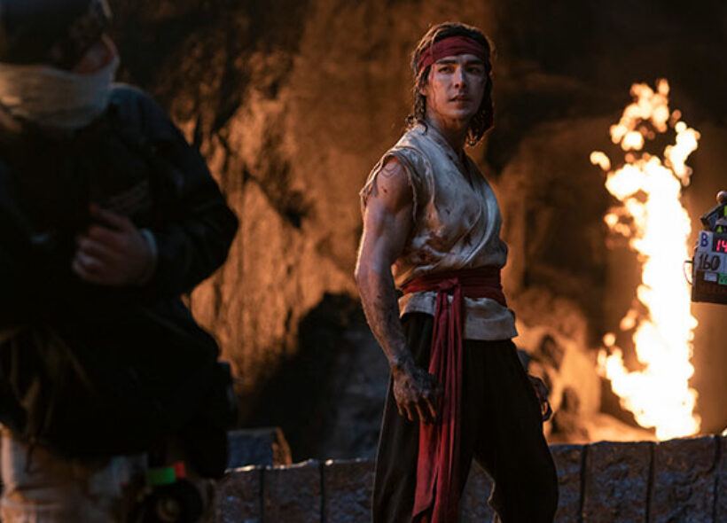 Crew on set of SA filmed action blockbuster Mortal Kombat with star Ludi Lin