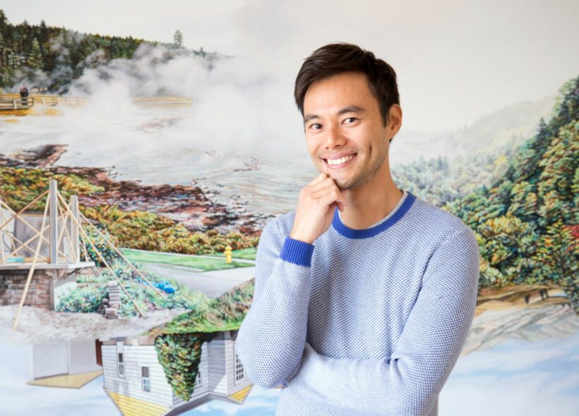 Image credit: Artist Kevin Chin in his studio.